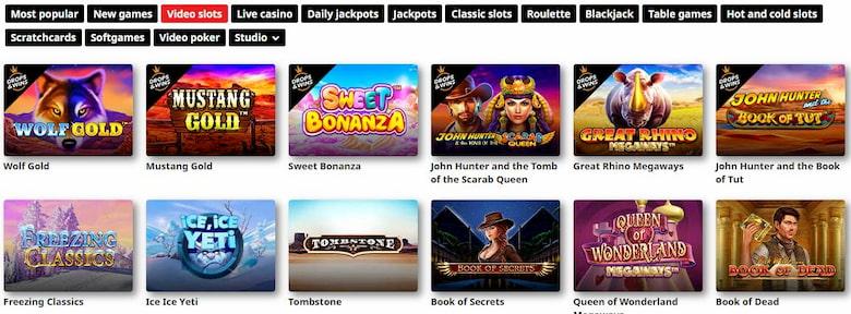 Games and Software Royal Panda Casino