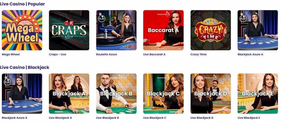 Games and Software Wildz Casino