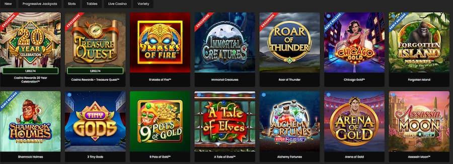 Games and Software Zodiac Casino