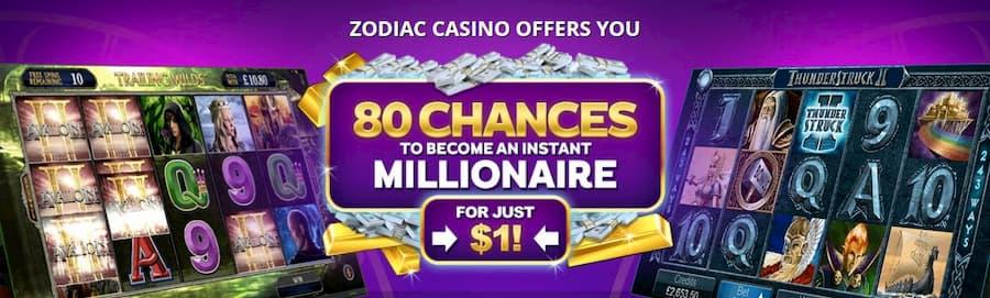 Welcome Bonus Zodiac Casino