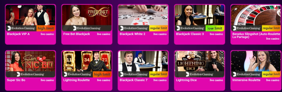 No Bonus Casino Table Games